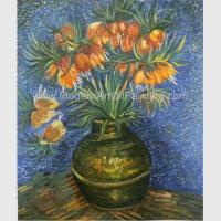 Van Gogh Oil Paint Fritillaries In A Copper Vase Masterpiece Replicas Manufactures