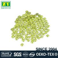 High Color Accuracy Flat Back Metal Studs Good Stickiness With Even Shinning Facets Manufactures