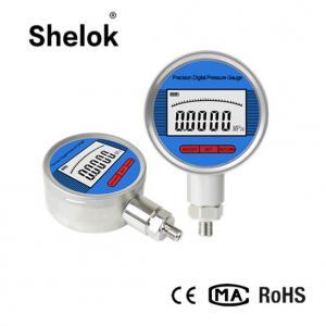 China Water RS485 RS232 oil air digital pressure gauge manometer 100mm on sale