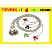 China Reusable Medical Equipment Gray ECG Trunk Cable 5 Lead Wires Approved ROHS on sale
