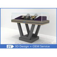 Beautiful Firm Structure Wooden Jewelry Display Cases Counter With Lock Manufactures