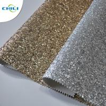 Hot Selling Fasion Grade 3 PU Glitter Fabric wallpaper Manufactures