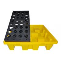 Quality Oil Tank Storage HDPE Spill Containment yellow Pallets, Spill Pallet for 220L 4 Drums Stoarge for sale