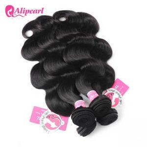 China Unprocessed Soft  Peruvian Human Hair Bundles Body Wave Virgin Hair Weave on sale