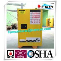 Chemical Flammable Safety Storage Cabinets 12 GAL For Hazardous Material