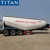 China TITAN 50 tons payload silo cement bulker dry bulk tanker trailer on sale
