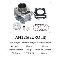 Suzuki Motorcycle Cylinder Block Kit 52mm Bore Diameter With Customized Logo Manufactures