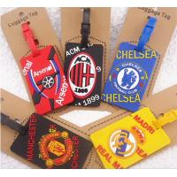 European Cup Football Plastic Luggage Tags , Multi - Colored Printable Luggage Tags Manufactures