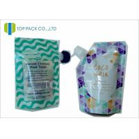 Custom Made Plastic Standing Spout Pouch , Zipper Closure Liquid Pouch Packaging Food Use Manufactures