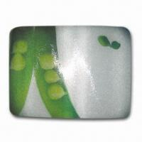 Breakfast Cutting Board/Plate, Made of Toughened Glass, Customized Logos are Welcome Manufactures