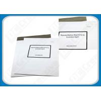 White Puncture Resistance Polythene Envelopes , Waterproof Self-Seal Plastic Shipping Mailers Manufactures