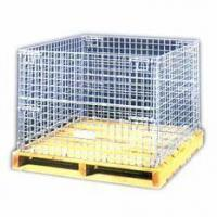Foldable Wire Container with Wooden Pallet Manufactures