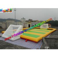 Sewed Inflatable Sports Games Soapy Football Field 20m X 10m