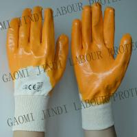 Made In China - nitrile cotton  glove ,yellow nitrile fully coated,3/4 coated,knit wrist Manufactures