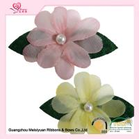 Decoration Pink Handmade lapel flower pins With Pearl eco friendly feature Manufactures