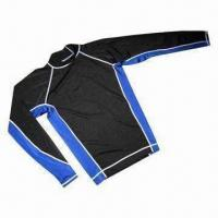 Chlorine-resistant Swimwear/Rash Guard, Used for Swimming and Surfing Manufactures
