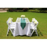 China high quality slat white wedding resin folding chair for sale on sale