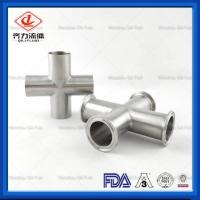 Sanitary Food Grade SS Pipe Fitting Clamped Cross Tee Manufactures