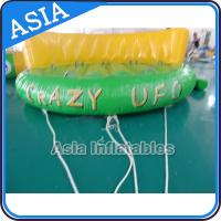 5 Person Water Ski Tube Inflatable Boats Crazy UFO Shaped 0.9mm PVC Tarpaulin Manufactures