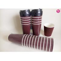 No smell 16oz ripple paper coffee cups Custom Label in Shrink Wrap
