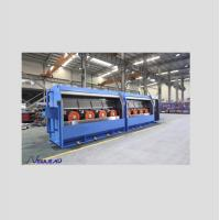 RBD450/13 Individual Servo motor drives type of Al Rod Breakdown Machine with Double spooler PND630 Manufactures
