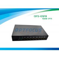 China SFP 8 Port Fiber Optic Ethernet Switch 100mbps , Full Duplex Switch Dual Mode wholesale