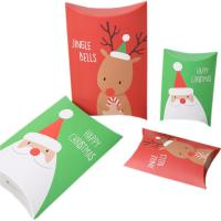 Christmas Gift Pillow Custom Retail Packaging Boxes 350gsm Art Paper Material Manufactures