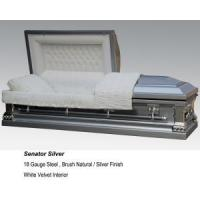 Quality Senator Silver Casket for sale