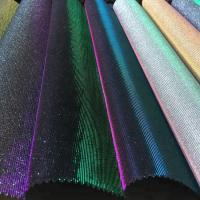 Bedroom Decorative Glitter Leather Fabric PU PET Polyester Material Manufactures