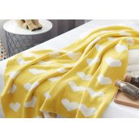 China 12GG Computer Knitted Soft Baby Blankets For Children, Cute Heart Logo on sale