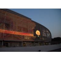 Quality Weather Proof Glass Wall Led Screen , Transparent Flexible Led Display For Hire for sale