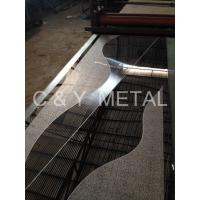 Quality 304 Decorative elevator's cabin sheet with mirror ,etching and hairline for sale