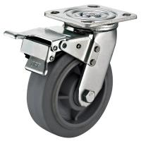 """Buy cheap 8""""X2"""" Thermoplastic Rubber Wheel Industrial Swivel Plate Casters Double Heavy from wholesalers"""