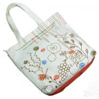 China Fancy Recycled Fabric Shopping Bags / Canvas Tote Bags For Vegetable / Grocery / Wine Packing on sale
