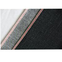 Black Cotton Selvedge Denim Fabric Breathability Heavylight Customized Design Manufactures