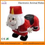 Santa Claus Electronic Walking Animal Rides Games Machine for Christmas Amusement Park Manufactures
