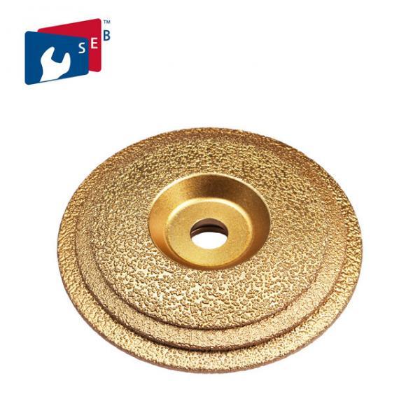 Quality 125mm Vacuum Brazed Diamond Cup Wheel , Metal Bond Diamond Grinding Wheels for sale