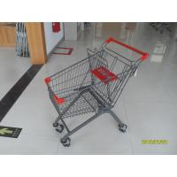 Buy cheap 80L Supermarket Shopping Carts With Escalator Wheel and PPG powder coating from wholesalers