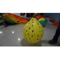 Durable Yellow 90cm Lemon Shaped Balloons With Digital Printing Manufactures