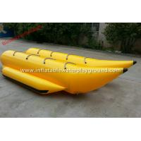 8 Person Inflatable Towables , Yellow Jet Ski Towables With Durable Handles Manufactures