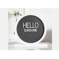 China Round Reversible Felt Message Board 12x12 Double Side With 340 White Letters on sale