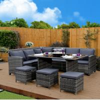 Corner Outdoor Rattan Sofa Dining Sets High-End Quality Garden Dining Table Manufactures