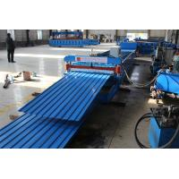 China Low Noise Roof Roll Forming Machine Fast Speed 20-30m/Min None Stop Cutting on sale
