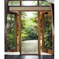 Anodize Finished Aluminum Window And Door With Walnut / Rosewood Manufactures