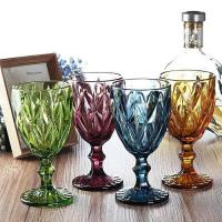 Wine Cup Dinner Sets Solid Glass Products Drinking For Juice Amber Purple Manufactures