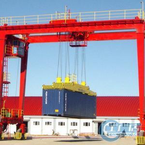 China RTG type rubber tyre gantry crane 45 ton on sale