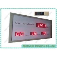 Electronic Led Digital Clock Display With Count Down Times , Aluminum Housing Manufactures