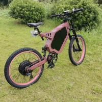 Modern Electric Mountain Bicycles , Full Suspension Ebike Charging Time 6 - 8 Hours Manufactures
