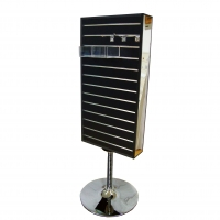 Double Mirror Rotating MDF Slatwall Display Stand Manufactures