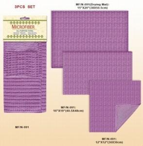 Custom Deluxe Cotton Microfiber Shower Towel Bathroom Accessories in Purple